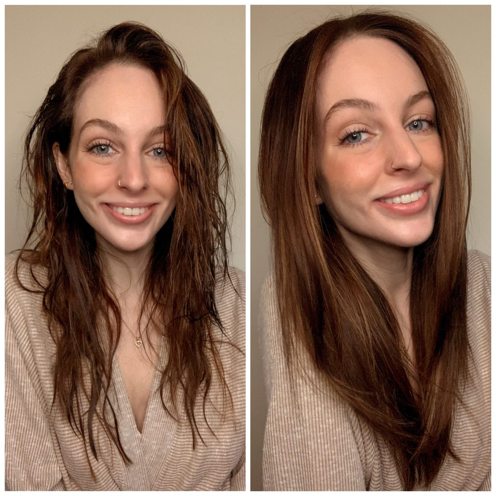 Before and After For Revlon One-Step Hair Dryer Review