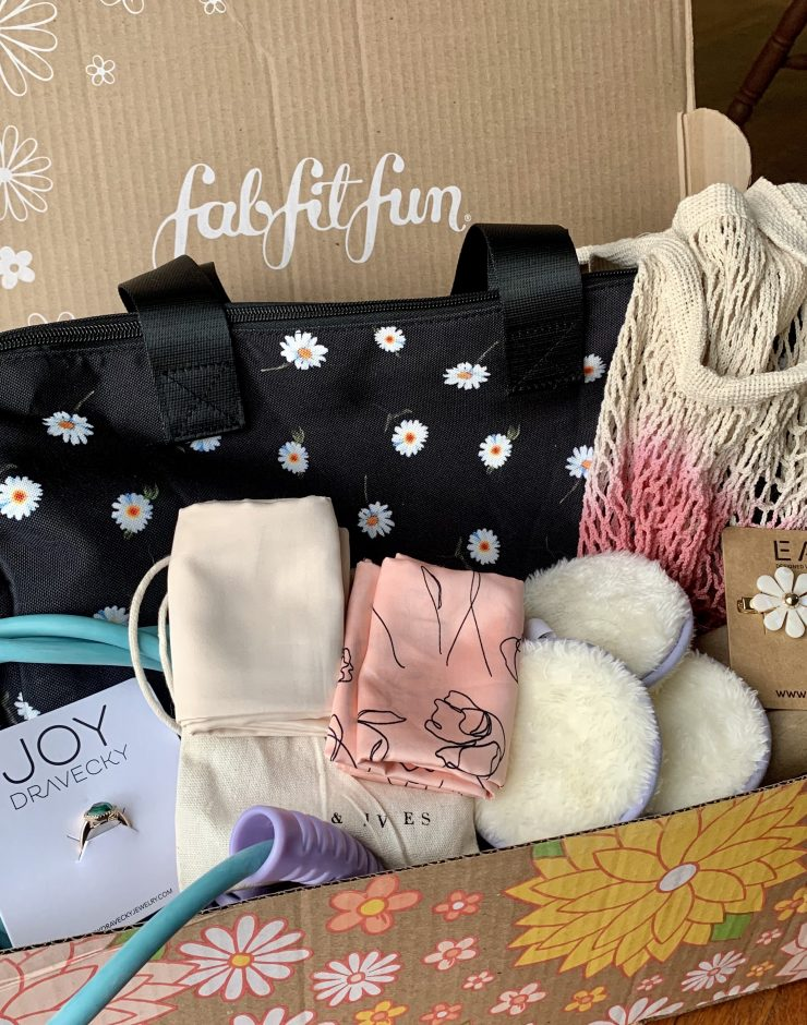 FabFitFun Review - Box with items inside of it