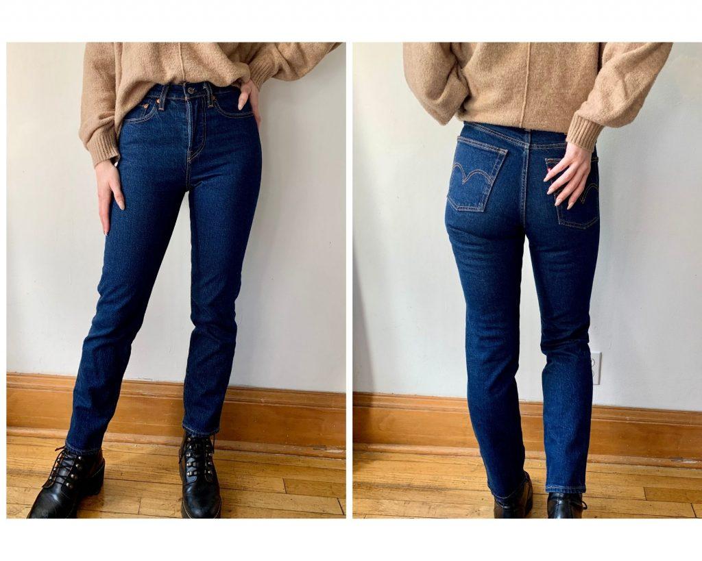 Dark Wash Levis Wedgie Jeans
